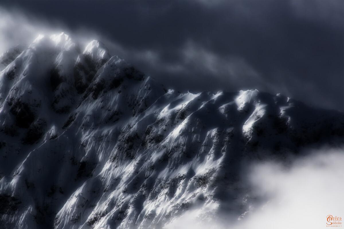 Winterberge im Karwendel.