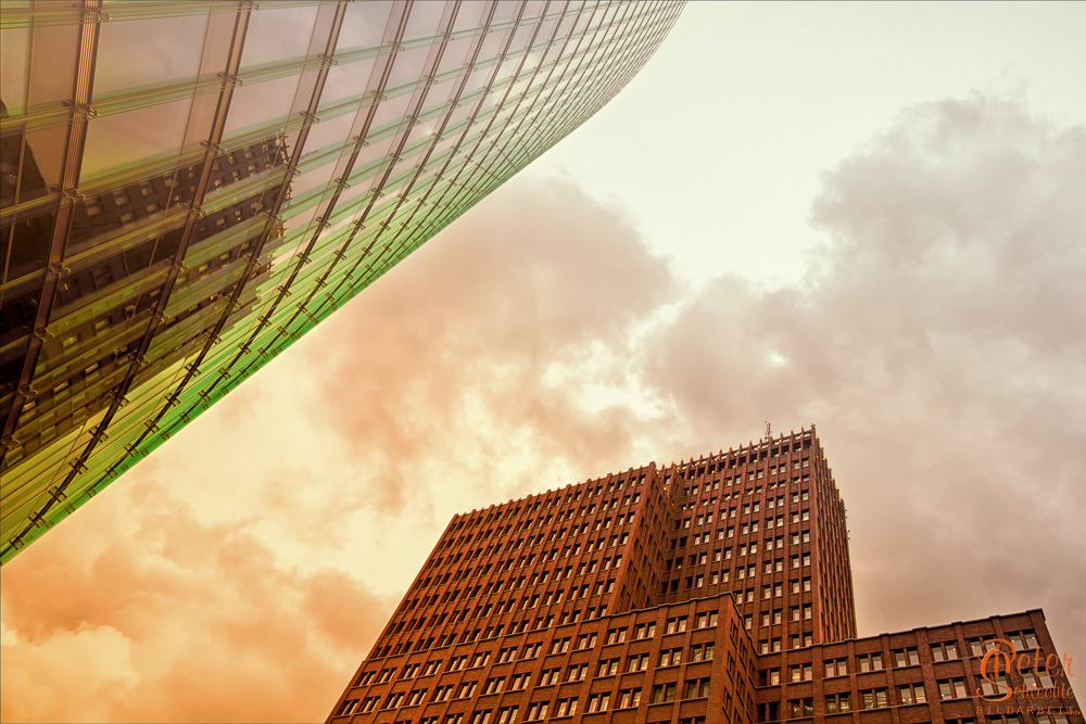 Berlin, nach oben geschaut.