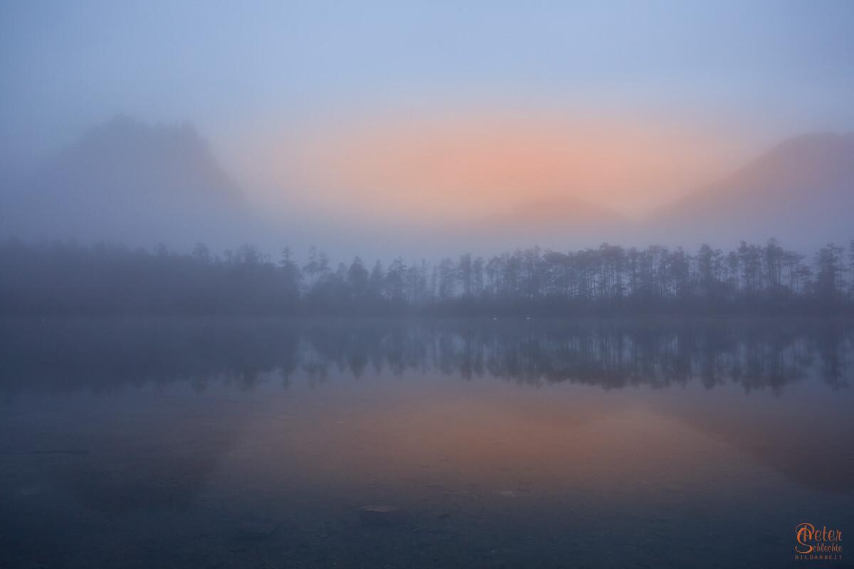 Almsee im Morgennebel 2