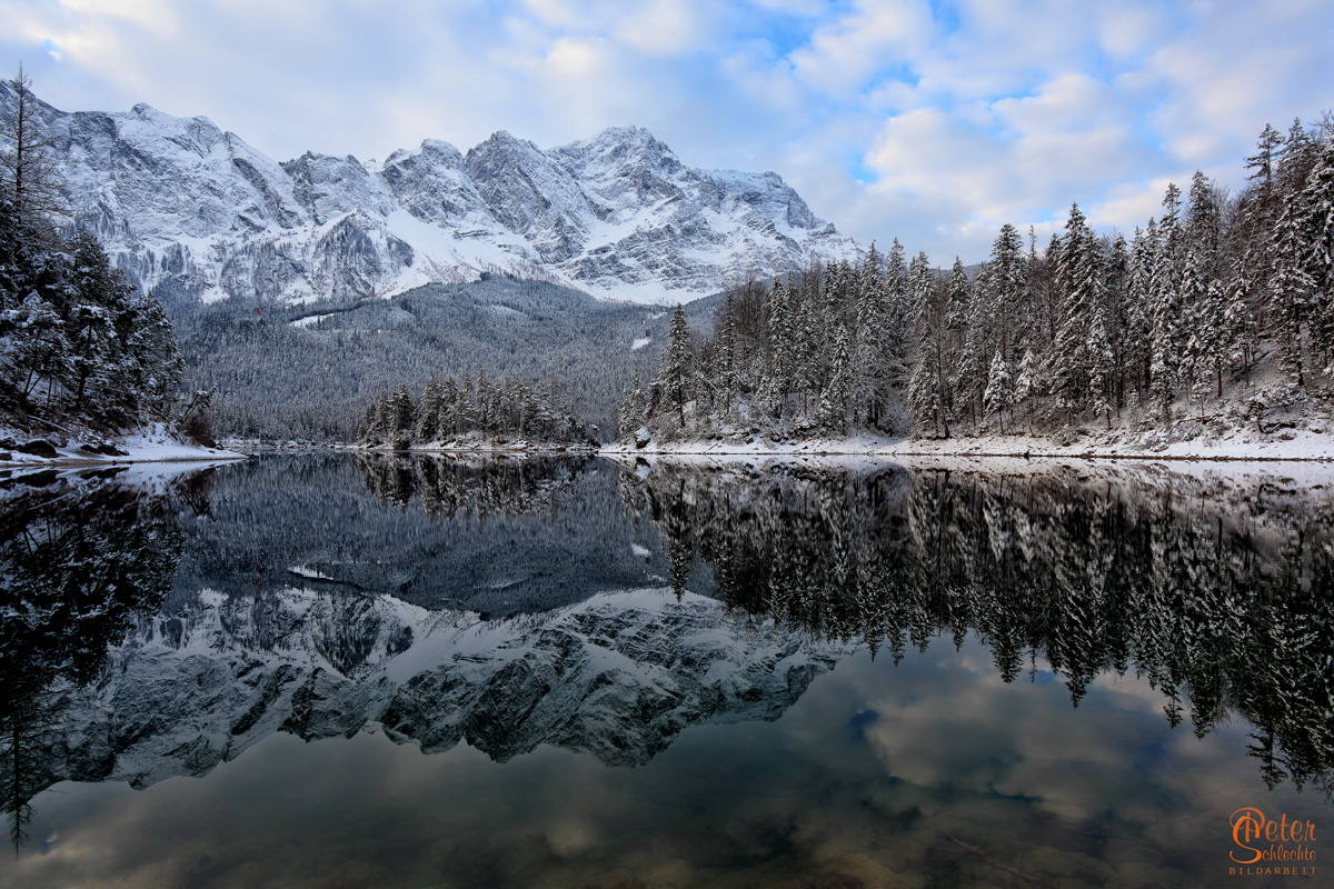 Eibsee morgens im Winter