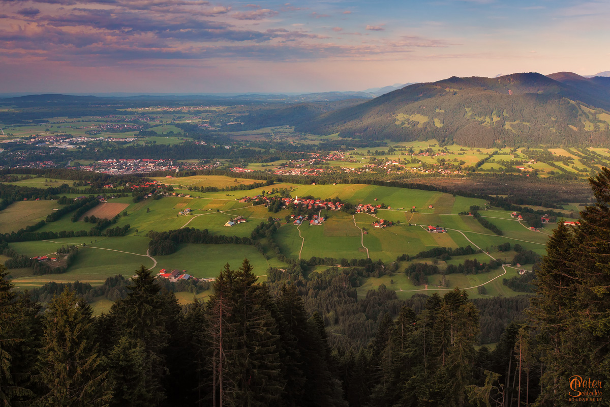 Wackersberg vom Blomberg aus gesehen.