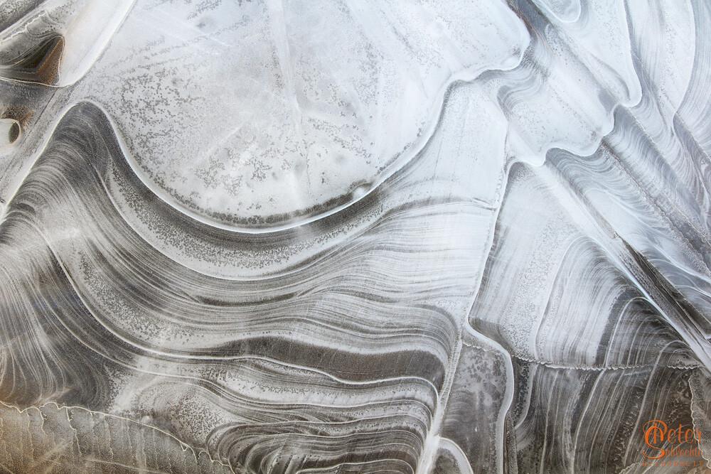 Eisstruktur aus dem bayerischen Oberland.