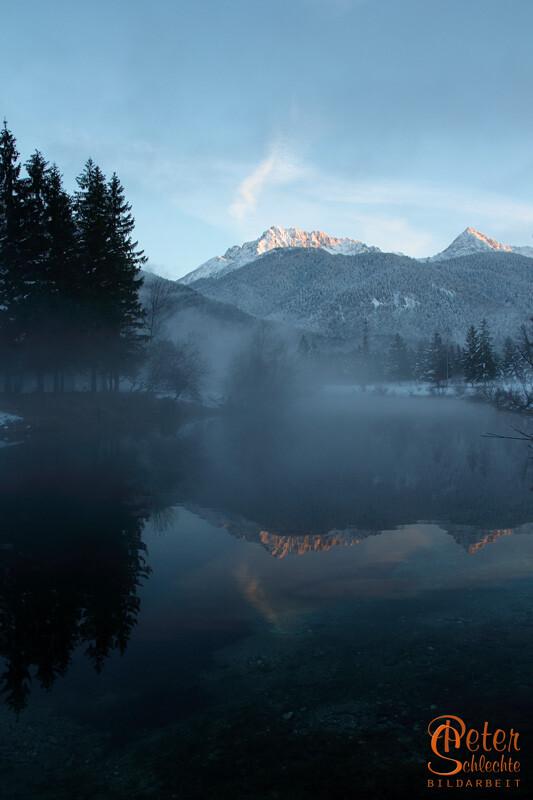 See in der Nähe von Krün mit Blick Richtung Karwendelgebirge.