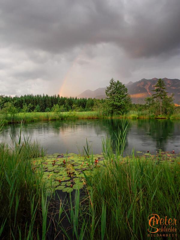 Regenbogen beim Barmsee nach einem Gewitter.
