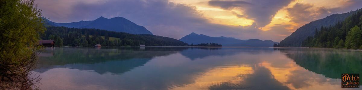 Walchensee zur Morgenstunde.