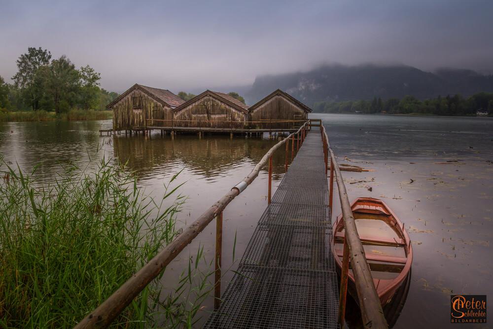 Fischerhütten bei Schlehdorf im Kochelsee.